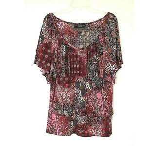 Venezia paisley tired top